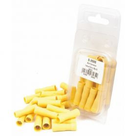 COSSES (x25) CYLINDRIQUE FEMELLE ISOLÉE, JAUNE, 5.5mm