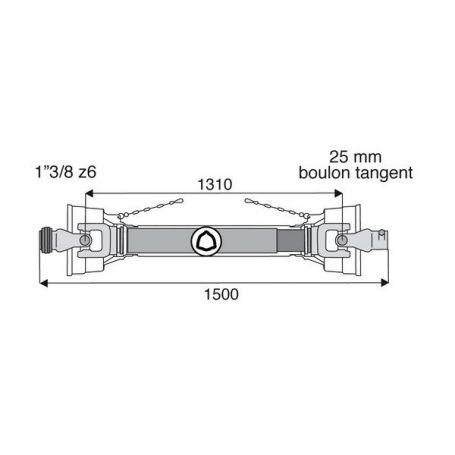 Transmission standard avec alésage 27x74.6
