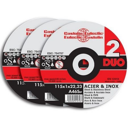 DISQUE A EBARBER 125X6.5 - XH125DUO6550